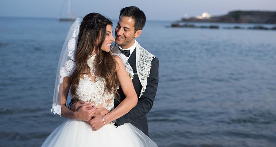 Chic gold white and peach wedding in Greece | Christine & Andoni ...