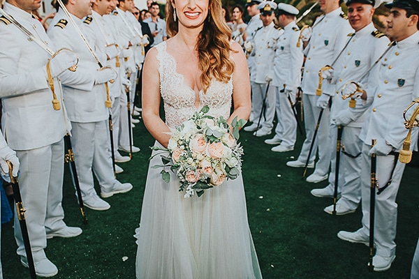 Romantic military wedding with the most beautiful flowers
