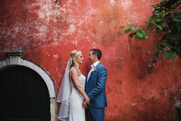 Gorgeous pale blush wedding in Corfu | Sarah & Colin