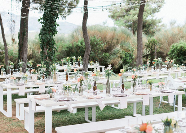 beautiful rustic wedding pink yellow peach tones-25