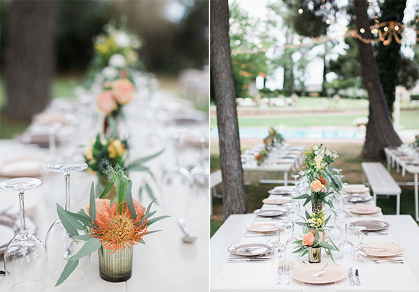 beautiful rustic wedding pink yellow peach tones-27a
