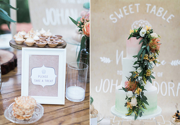 beautiful rustic wedding pink yellow peach tones-35