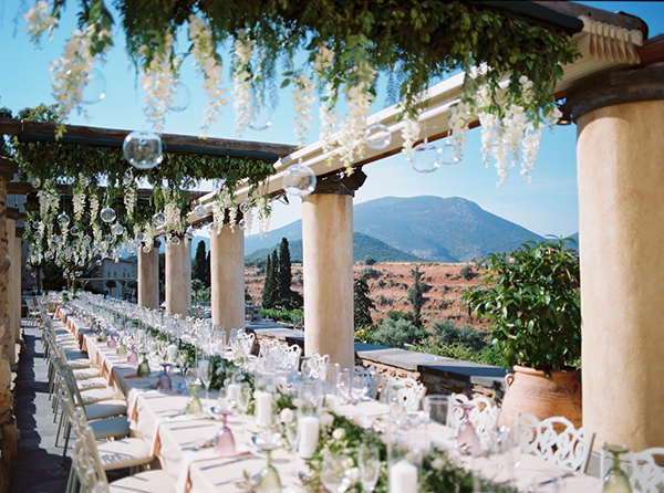 Chic stylish wedding decoration in soft tones