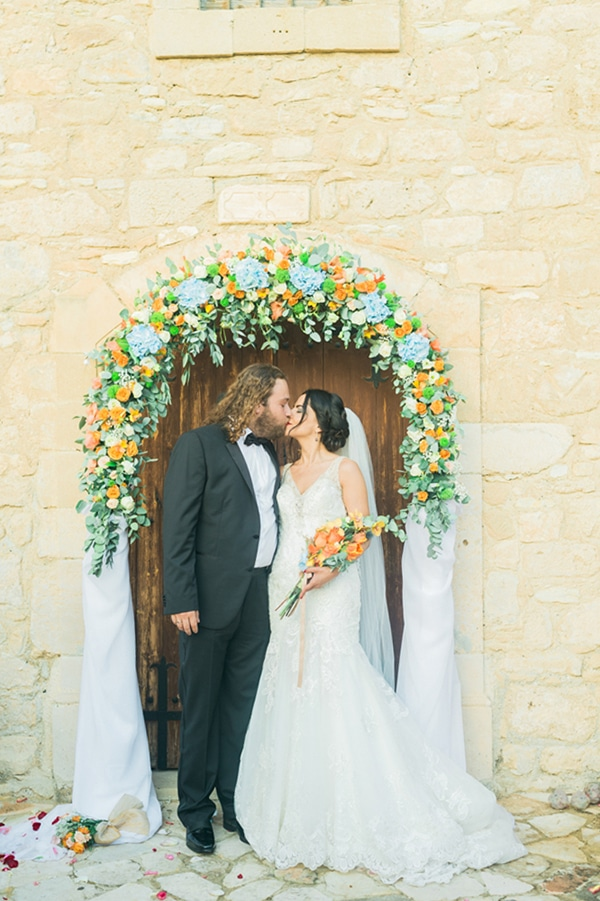 Beautiful orange and blue wedding in Cyprus | Christoula & Alexandros