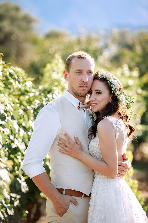 Lovely rustic winery wedding in Crete? Kristina & Mikhail