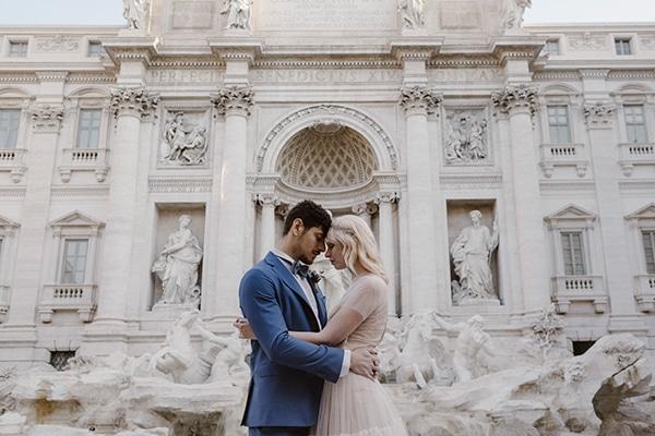 Romantic classy wedding styled shoot in Rome