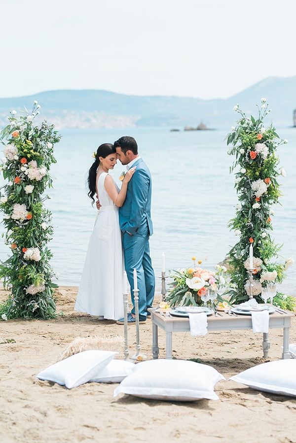 Romantic summer beach styled shoot in Pilos