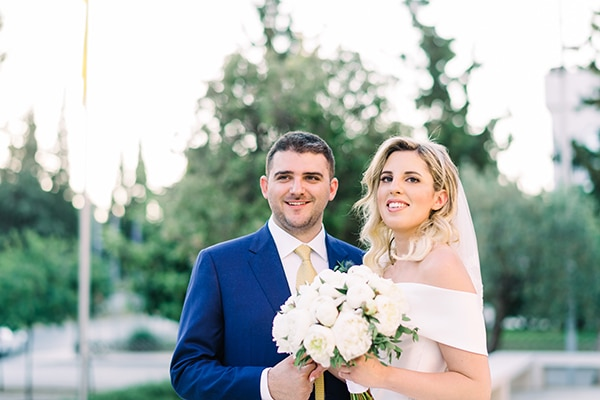 Gorgeous elegant wedding with romantic details   Nefeli & Konstantinos