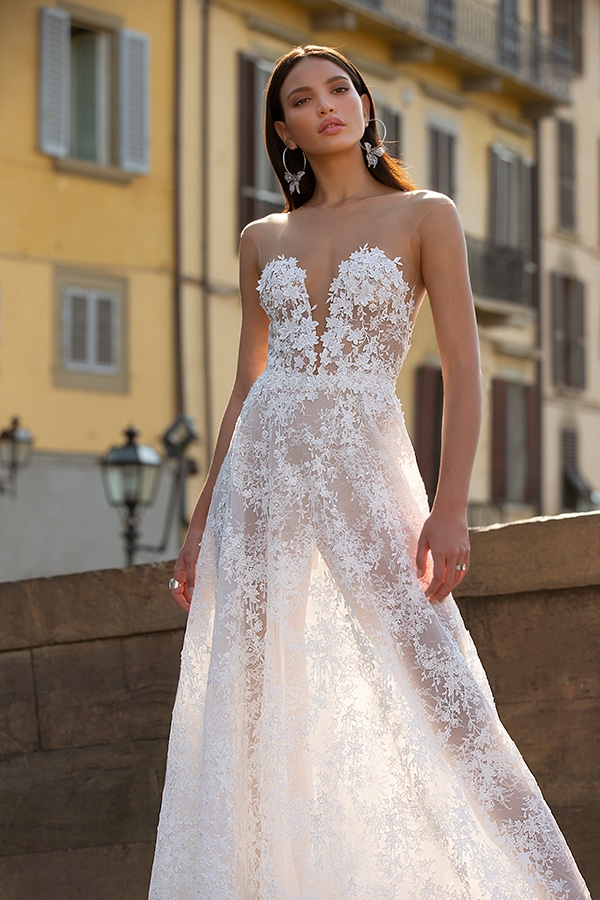 Sophisticated boho chic Berta wedding gowns | Muse By Berta 2020