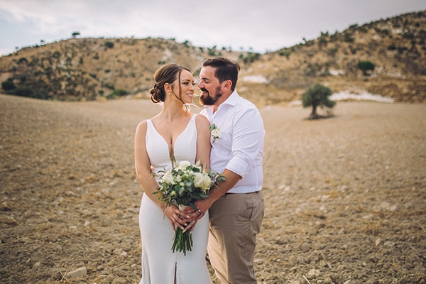Destination intimate wedding in Paphos with rustic details | Natalie & Rhys
