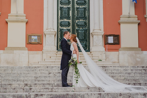 Rustic summer wedding in Corfu with gorgeous blooms | Charlotte & Alexandros